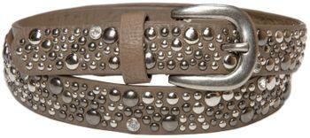 styleBREAKER Nietengürtel im Vintage Style, schmaler Damen Gürtel mit Nieten und Strass, kürzbar 03010021 – Bild 9