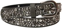 styleBREAKER studded belt in vintage style, narrow ladies belt with studs and rhinestones, shortened 03010021 – Bild 7