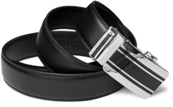 styleBREAKER genuine leather belt with automatic closure and metal buckle, shortened 03010023 – Bild 6