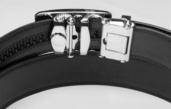 styleBREAKER genuine leather belt with automatic closure and metal buckle, shortened 03010023 – Bild 7