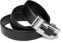 styleBREAKER echt Ledergürtel mit Automatikschließe und Metallschnalle / kürzbar 03010023 – Bild 3