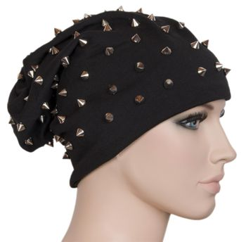 styleBREAKER classic beanie slouch hat with rivets and lining 04024011 – Bild 6