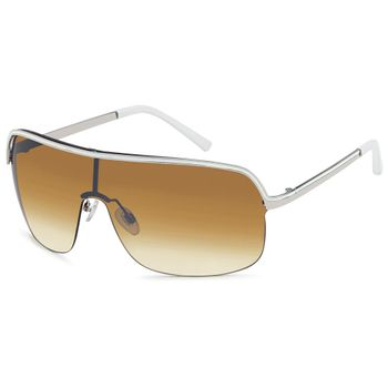styleBREAKER Designer Sonnenbrille mit durchgängigem Glas und halber Randeinfassung, UV400 Schutz 09020008 – Bild 1