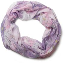 styleBREAKER light, silky flower pattern tube scarf in crushed look 01016040 – Bild 5