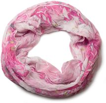 styleBREAKER light, silky flower pattern tube scarf in crushed look 01016040 – Bild 9
