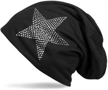 styleBREAKER klassische Unisex Beanie Mütze mit Stern Strass Applikation, leicht 04024019 – Bild 31