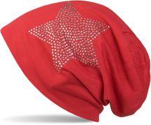 styleBREAKER klassische Unisex Beanie Mütze mit Stern Strass Applikation, leicht 04024019 – Bild 14