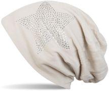 styleBREAKER klassische Unisex Beanie Mütze mit Stern Strass Applikation, leicht 04024019 – Bild 26