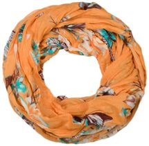 styleBREAKER butterfly and flowers print tube scarf, crush and crinkle 01016013 – Bild 3