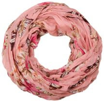 styleBREAKER butterfly and flowers print tube scarf, crush and crinkle 01016013 – Bild 6