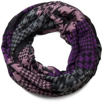 styleBREAKER Pepita Muster Loop Schal, Hahnentritt Design, Schlauchschal, Unisex 01018056 – Bild 9