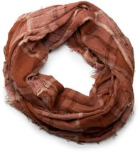 styleBREAKER plaid pattern loop tube scarf in crash look with fringes, soft quality, unisex 01018057 – Bild 7
