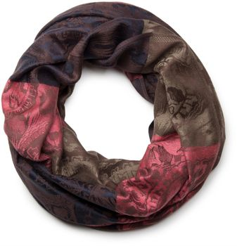 styleBREAKER flowers, hibiscus blossoms, paisley pattern, loop tube scarf, warm and soft quality 01018058 – Bild 7