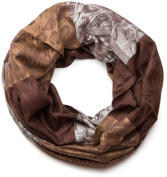 styleBREAKER flowers, hibiscus blossoms, paisley pattern, tube scarf, warm and soft quality, shawl, women 01018058 – Bild 3