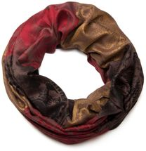 styleBREAKER flowers, hibiscus blossoms, paisley pattern, loop tube scarf, warm and soft quality 01018058 – Bild 2