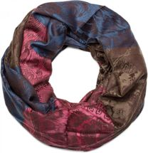 styleBREAKER flowers, hibiscus blossoms, paisley pattern, tube scarf, warm and soft quality, shawl, women 01018058 – Bild 6