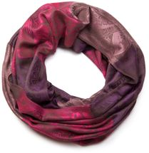 styleBREAKER flowers, hibiscus blossoms, paisley pattern, tube scarf, warm and soft quality, shawl, women 01018058 – Bild 4