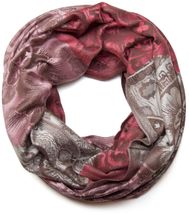 styleBREAKER flowers, hibiscus blossoms, paisley pattern, loop tube scarf, warm and soft quality 01018058 – Bild 5