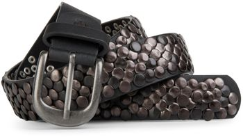 styleBREAKER real vintage style studded belt with genuine leather, shortened 03010043 – Bild 2