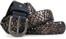 styleBREAKER real vintage style studded belt with genuine leather, shortened 03010043 – Bild 8