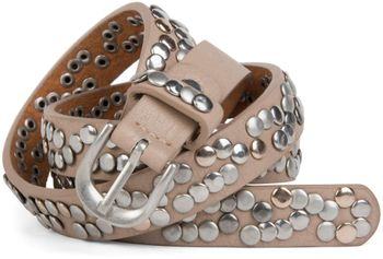 styleBREAKER narrow studded belt with multi-colored rivets in vintage style with genuine leather, shortened 03010044 – Bild 16