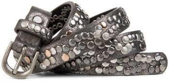 styleBREAKER narrow studded belt with multi-colored rivets in vintage style with genuine leather, shortened 03010044 – Bild 7