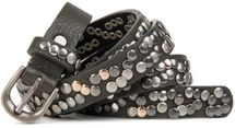 styleBREAKER narrow studded belt with multi-colored rivets in vintage style with genuine leather, shortened 03010044 – Bild 8