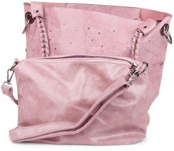 styleBREAKER Handtaschen Set mit Strass Applikation im Sternenhimmel Design, 2 Taschen 02012013 – Bild 63