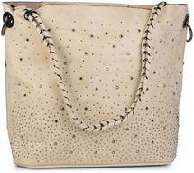 styleBREAKER Handtaschen Set mit Strass Applikation im Sternenhimmel Design, 2 Taschen 02012013 – Bild 45