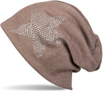 styleBREAKER warm beanie hat with star rhinestone application, unisex 04024023 – Bild 6