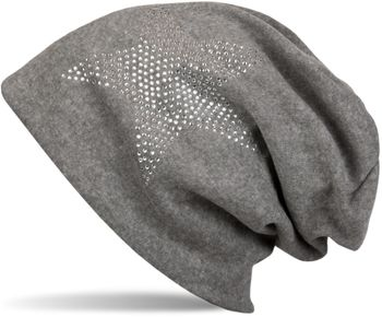 styleBREAKER warm beanie hat with star rhinestone application, unisex 04024023 – Bild 7