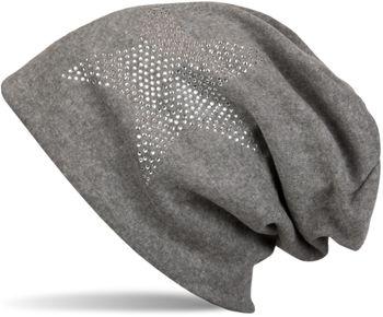 styleBREAKER klassische Unisex Beanie Mütze mit Stern Strass Applikation, warm 04024023 – Bild 7