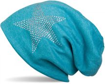 styleBREAKER warm beanie hat with star rhinestone application, unisex 04024023 – Bild 36