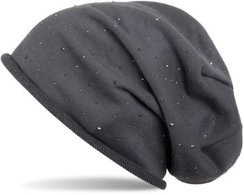 styleBREAKER classic beanie hat with rhinestone studs application, and rolled edge, warm, unisex 04024024 – Bild 9