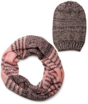 styleBREAKER scarf and hat combo set, colorful chunky knit tube scarf and knitting beanie 01018201 – Bild 7