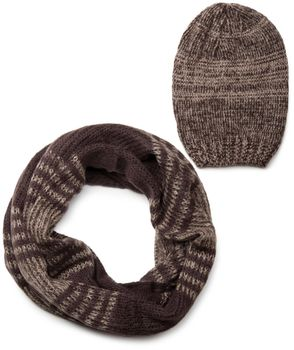 styleBREAKER scarf and hat combo set, colorful chunky knit tube scarf and knitting beanie 01018201 – Bild 22