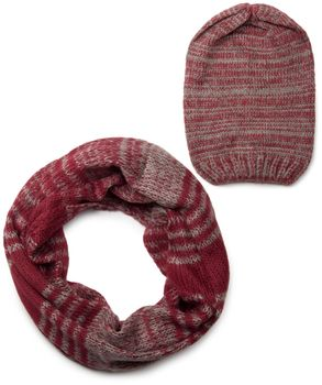styleBREAKER scarf and hat combo set, colorful chunky knit tube scarf and knitting beanie 01018201 – Bild 13