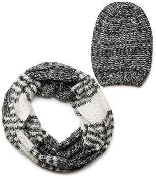 styleBREAKER scarf and hat combo set, colorful chunky knit tube scarf and knitting beanie 01018201 – Bild 10