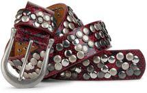 styleBREAKER snakeskin optic studded belt in vintage style with genuine leather, shortened 03010008 – Bild 1