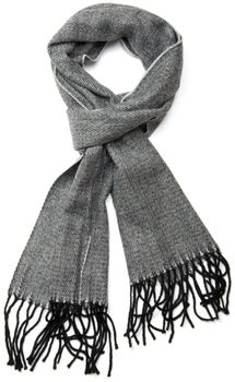 styleBREAKER classic scarf with sophisticated herringbone pattern and fringing, unisex 01018073 – Bild 1