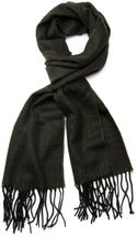 styleBREAKER classic scarf with sophisticated herringbone pattern and fringing, unisex 01018073 – Bild 9