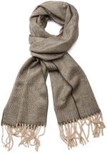 styleBREAKER classic scarf with sophisticated herringbone pattern and fringing, unisex 01018073 – Bild 2