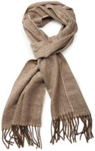 styleBREAKER classic scarf with sophisticated herringbone pattern and fringing, unisex 01018073 – Bild 5