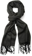 styleBREAKER classic scarf with sophisticated herringbone pattern and fringing, unisex 01018073 – Bild 11