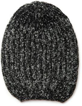 styleBREAKER Schal und Mütze Kombi Set, marmorierter Grobstrick Loop Schlauchschal mit Strick Beanie Mütze 01018206 – Bild 3