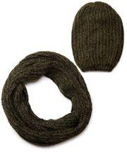 styleBREAKER Schal und Mütze Kombi Set, marmorierter Grobstrick Loop Schlauchschal mit Strick Beanie Mütze 01018206 – Bild 10