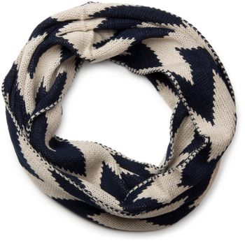 styleBREAKER smooth knit tube scarf snood with contrasting zig-zag pattern, unisex 01018129 – Bild 2