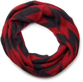 styleBREAKER smooth knit tube scarf snood with contrasting zig-zag pattern, unisex 01018129 – Bild 4