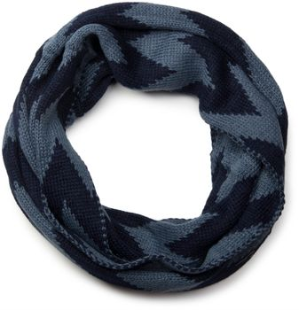 styleBREAKER smooth knit tube scarf snood with contrasting zig-zag pattern, unisex 01018129 – Bild 5