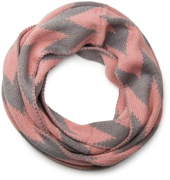 styleBREAKER smooth knit tube scarf snood with contrasting zig-zag pattern, unisex 01018129 – Bild 3
